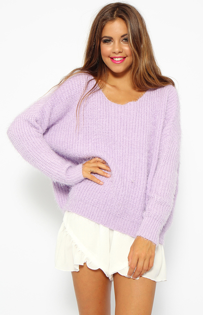 Lullaby Knit - Lilac | Back In Stock | Clothes | Peppermayo