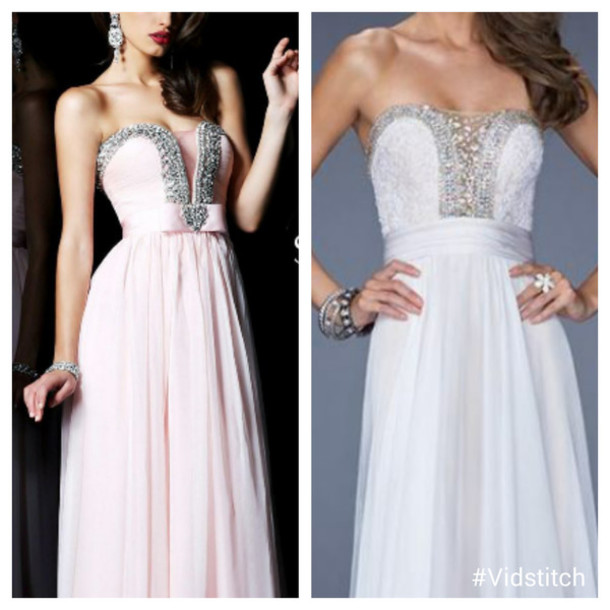 dress pink pink dress prom dress long prom dress white white dress prom dress sweetheart dress jewels