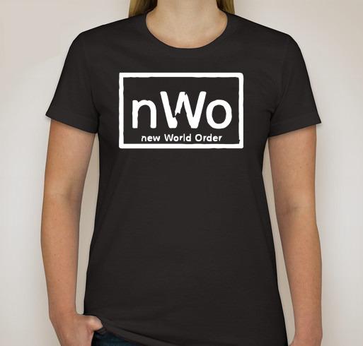 T40 custom women tshirt new world order t shirt nwo logo for Order custom shirts online