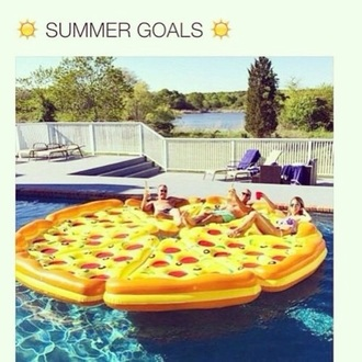 home accessory food float summer summer holidays summer accessories swimming pizza pizza pool float pool pool float summer pool food