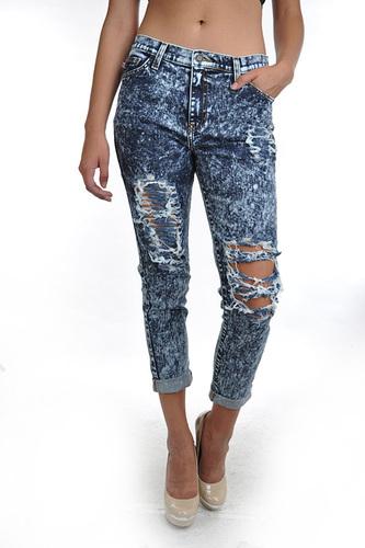 Acid Wash Boyfriend Jeans - JuJu's Closet