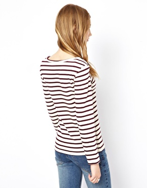 Ganni | Ganni Breton Stripe T-Shirt with Long Sleeves at ASOS