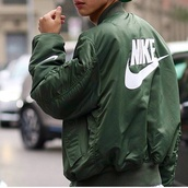 jacket,nike,green,bomber jacket,nike jacket,coat,nike bomber jacket,mens jacket,streetwear,swag,khaki,army green jacket,khaki bomber jacket,nike jumper,waterproof,sportswear,just do it,nike sweater,tumblr outfit,tumblr jacket,green jacket,windrunner,nike windrunner,nike air,windbreaker,green bomber jacket