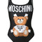 Moschino - bear print swimsuit - women - polyester/spandex/elastane - 46, black, polyester/spandex/elastane