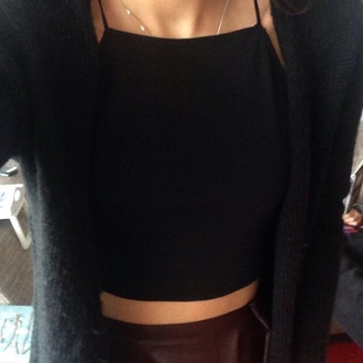 shirt halter neck black classic crop tops cropped cute tumblr cute top tumblr shirt