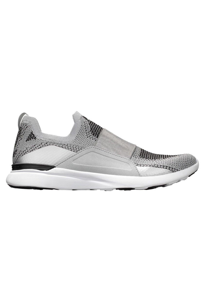 APL TechLoom Bliss - Metallic Silver/White/Black - 5.5 Black trainers 5.5 Black