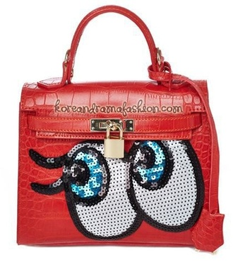 bag purse red korean fashion