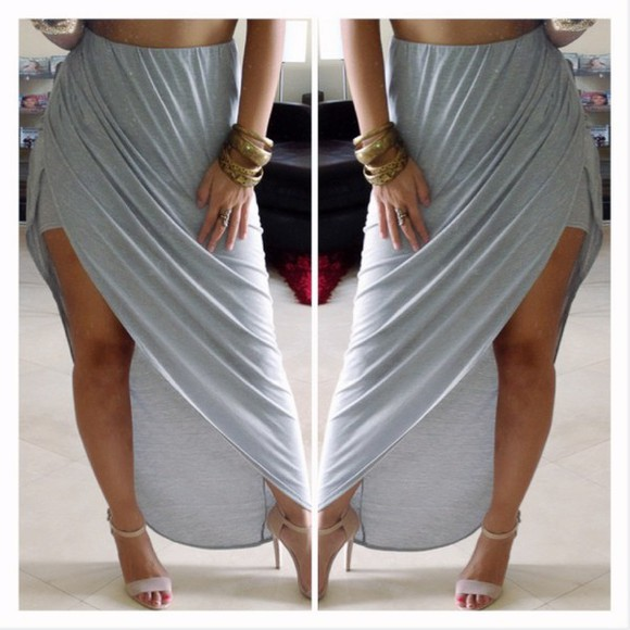 slit skirt skirt high waisted