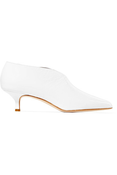 Tibi leather ankle boots ankle boots leather white shoes