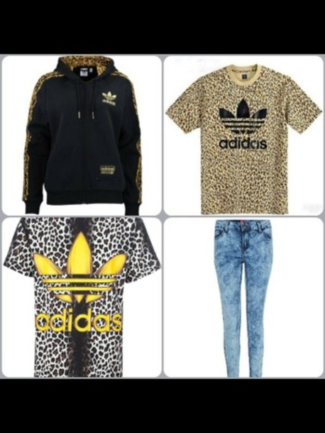 shirt adidas leopard print