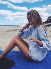 sweater,top,grey sweater,beach,wool sweater,wool,cosy sweaters,comfy,light blue,beautiful,fashion,weather,winter outfits,fall outfits,cold,grey,light,style,light grey,oversized sweater,oversized,fall sweater,textured sweater,outfit,clothes,overzised,girl,summer outfits,summer,warm,cozy,cozy sweater,blonde hair,sea,ocean,chill,stripes,boho,lazy day