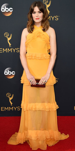 dress gown mandy moore emmys 2016 red carpet dress prom dress