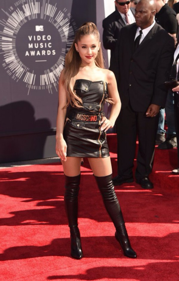 shoes vma 2014 ariana grande leather boots