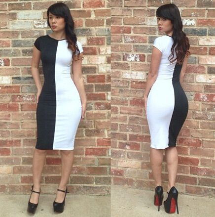 Cute hot black and white dress