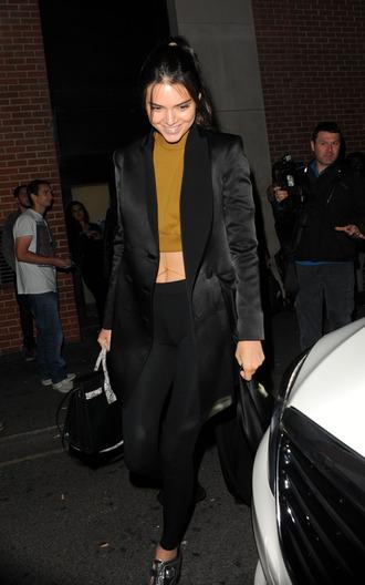 top blazer crop tops kendall jenner leggings kardashians blouse