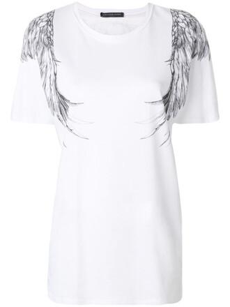 t-shirt shirt printed t-shirt eagle women white cotton top