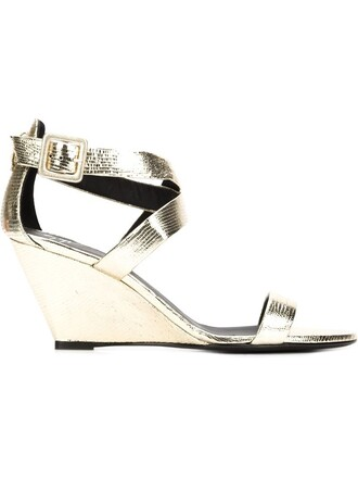 strappy sandals wedge sandals metallic shoes
