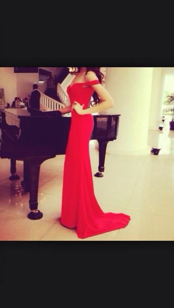 dress wedding dress red dress red