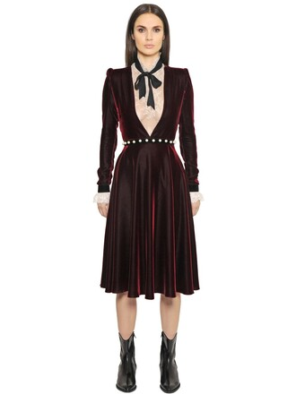 pearl low cut belt velvet dark dark red red