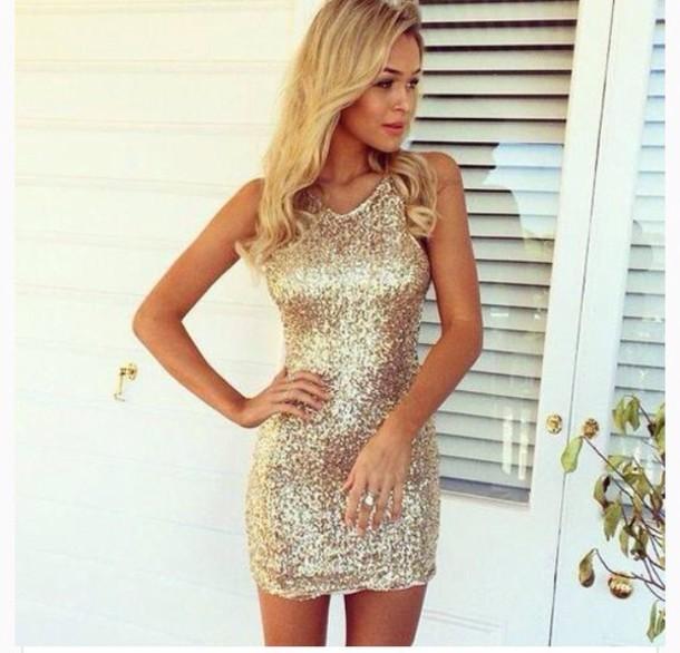 Hot sequins show body dress
