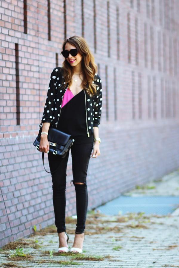 preppy fashionist blogger sunglasses top jeans shoes bag