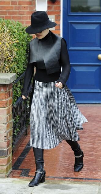 skirt top hat midi skirt
