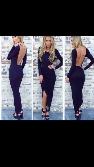 dress beautiful stunnig black dress long dress