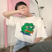 t-shirt,itgirl shop,kfashion,korean fashion,fashion,tumblr,southkorean,ulzzang,streetstyle,aesthetic,clothes,apparel,kawaii,cute,women,indie,grunge,pastel,kawaiifashion,pale,style,online,kawaiishop,freeshipping,free,shipping,worldwide,palegoth,soft grunge,softgoth,minimalist,inspiration,outfit,itgirlclothing,white t-shirt,cotton t-shirt,crying frog,printed t-shirt,cartoon
