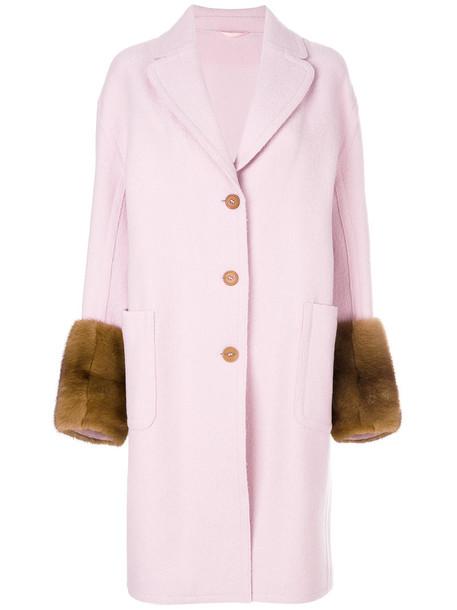 Ermanno Scervino fur women wool purple pink jewels