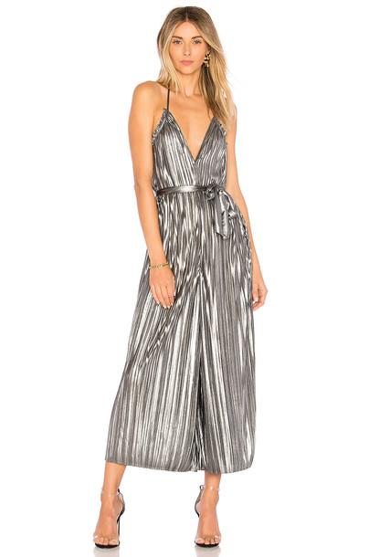 Saylor jumpsuit metallic silver