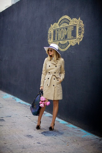 late afternoon blogger bag trench coat hat coat