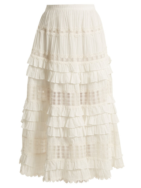 skirt ruffle lace cotton