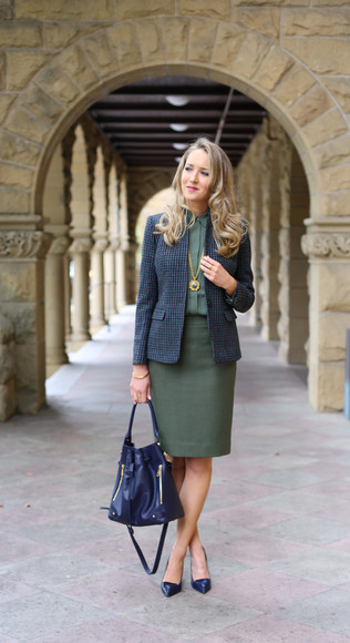 shirt jewels blogger bag the classy cubicle work outfit khaki blazer