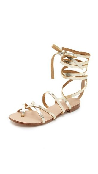 lace up sandals sandals lace gold shoes