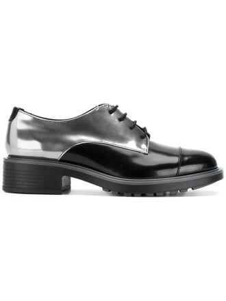 metallic women shoes leather black