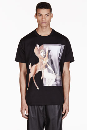 Givenchy Black Oversized Bambi T-shirt for men | SSENSE