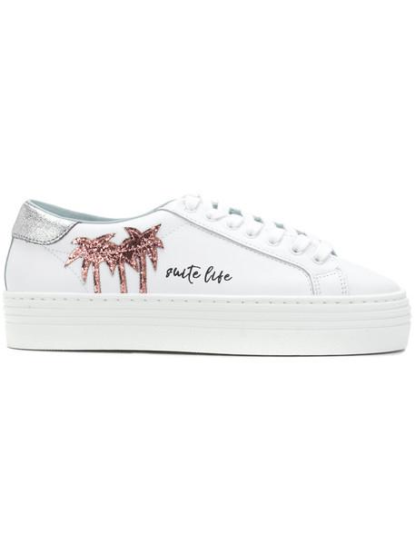 Chiara Ferragni women sneakers leather white shoes