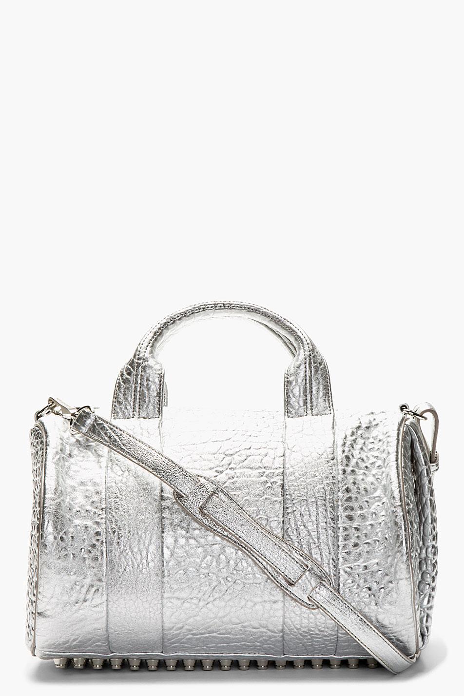 Alexander wang silver rocco handbag
