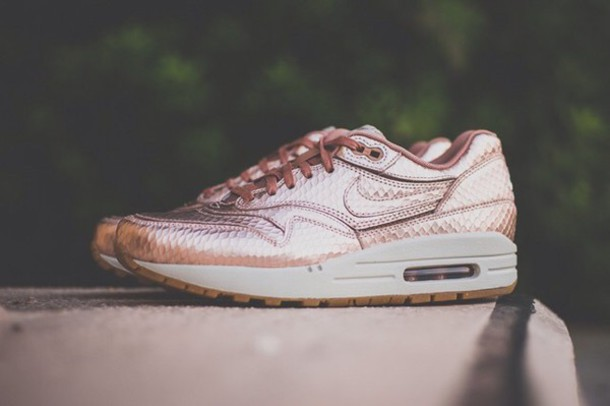 61f3090b69 nike wmns air max 1 cut out prm premium bronze snake trainers ...
