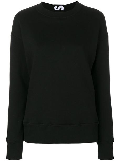 Versus sweatshirt women cotton black sweater