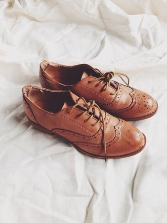 leather shoes brown shoes oxfords