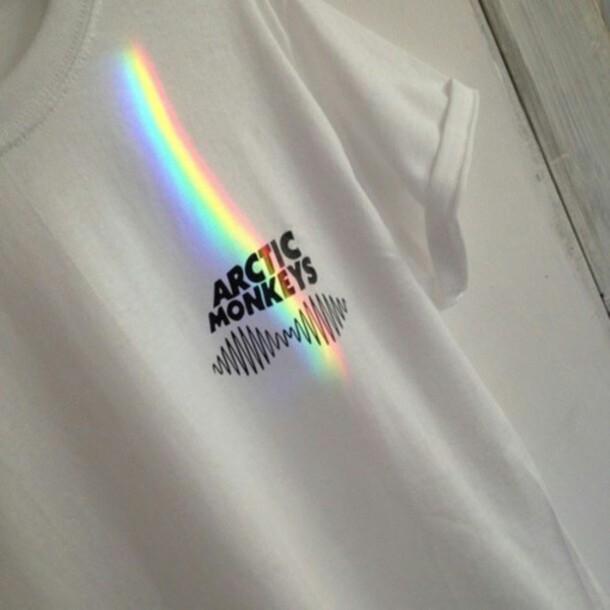 Shirt Artic Monkeys Symbol Arctic Monkeys White Shirt Wheretoget