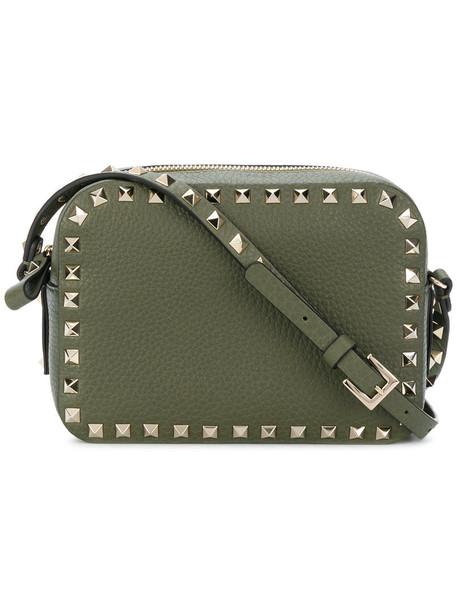 Valentino women bag shoulder bag leather green