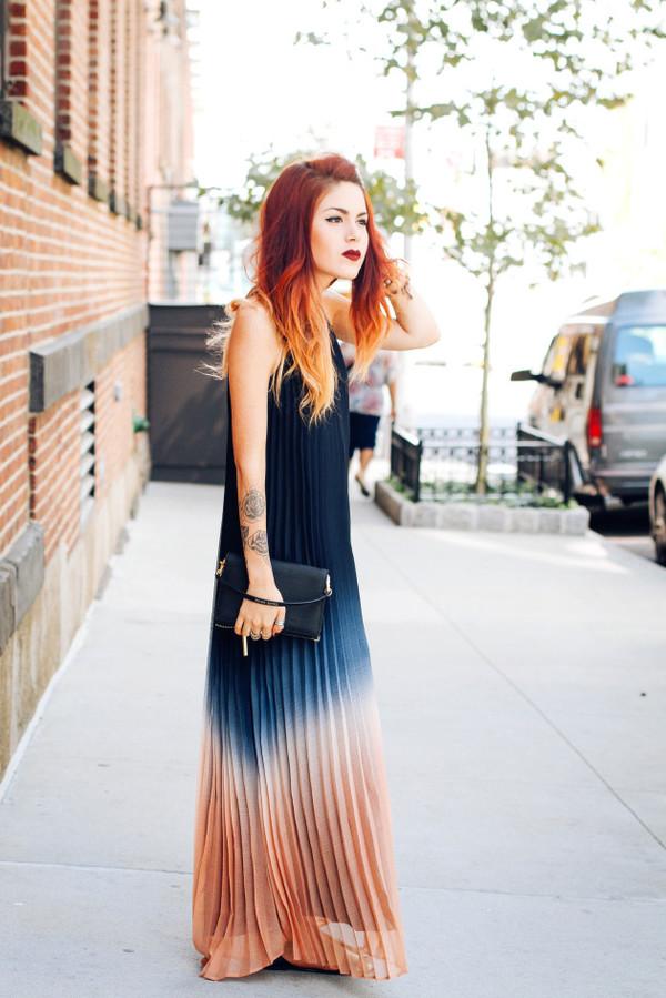 le happy blogger dress blue dress ida greco