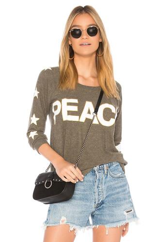 sweatshirt peace sweater