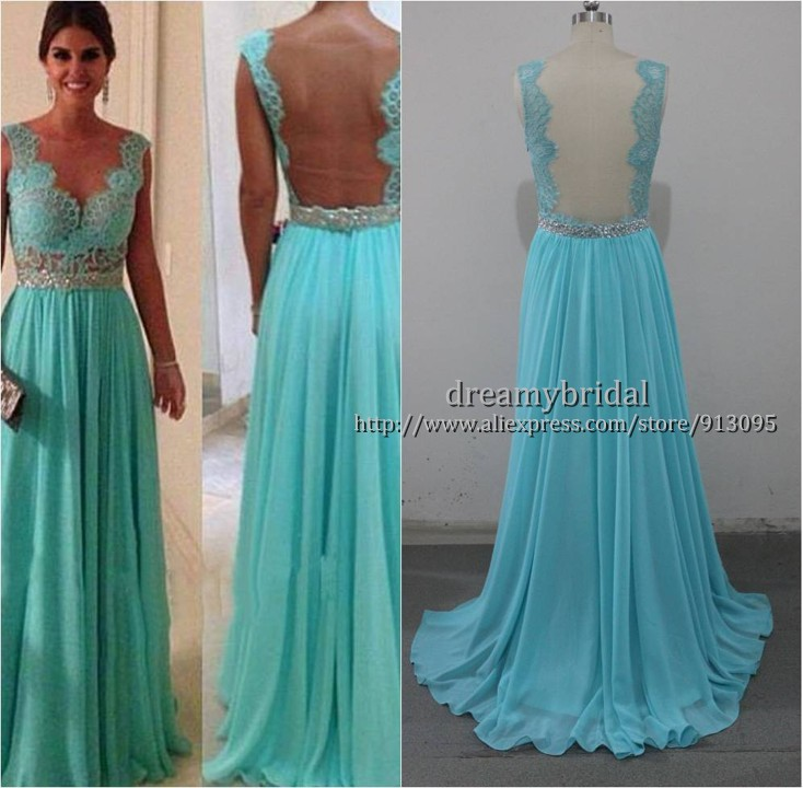 Aliexpress.com : Buy Vestidos formales de fiesta Hot Sale Sheath Sweetheart Beadings Nude Back Blue Lace Chiffon 2013 Sexy Long Evening Dresses WD022 from Reliable prom dress beaded suppliers on Suzhou dreamybridal Co.,LTD