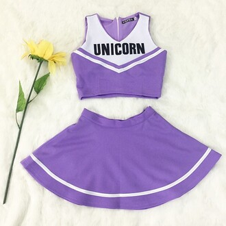 top kawaii outfit unicorn purple