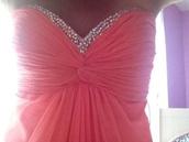 dress,prom dress,pink,sparkle