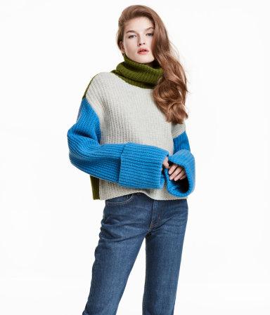 Wide-cut Turtleneck Sweater $79.99