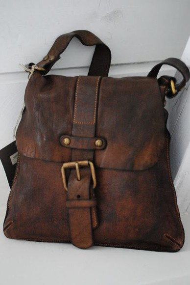 bag leather bag purse leather purse vintage looking